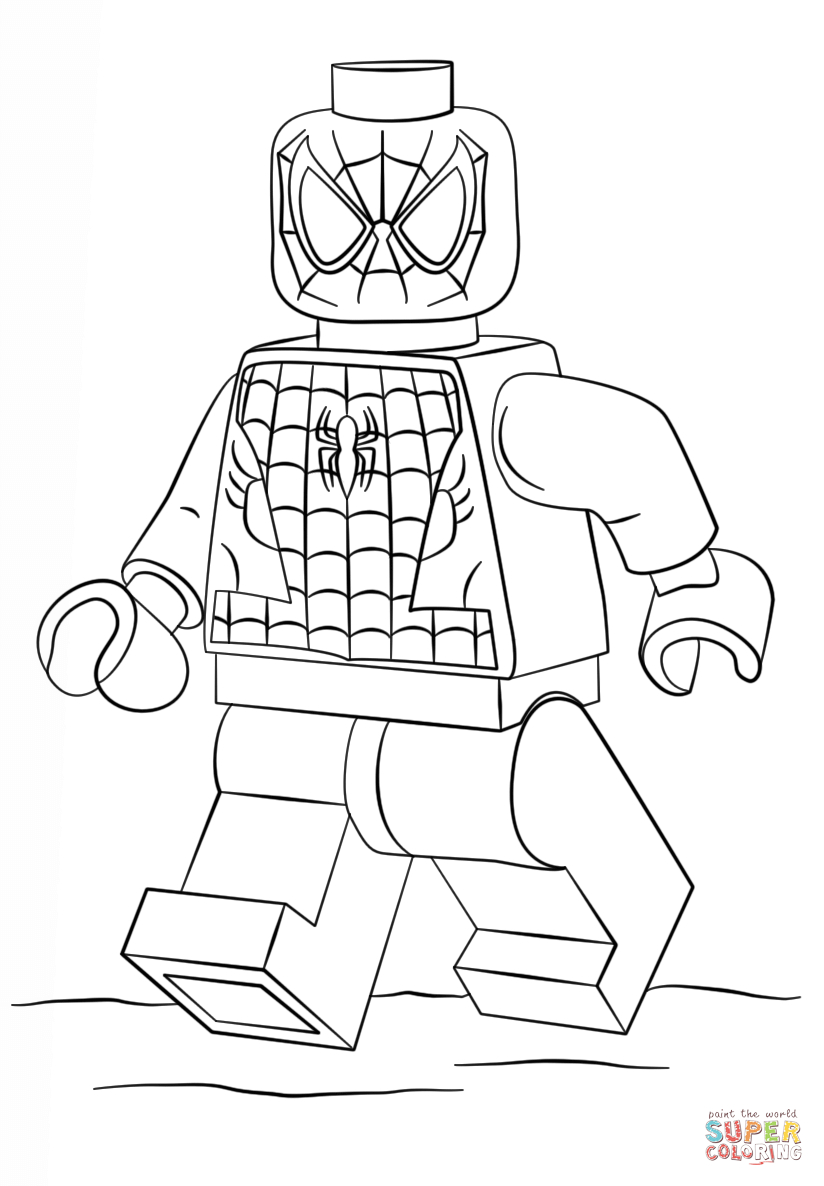 27+ Beautiful Picture of Lego Spiderman Coloring Pages