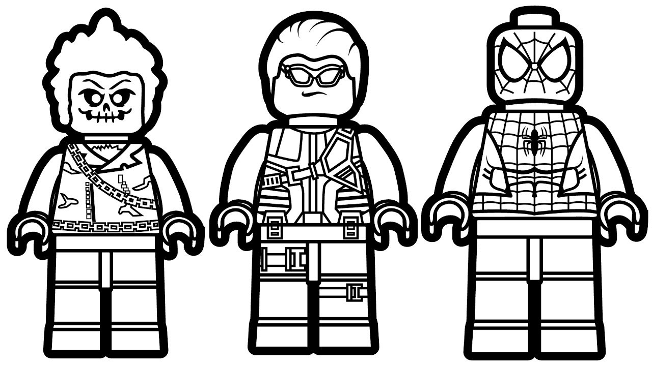 Lego Spiderman Coloring Pages Lego Spiderman Coloring Pages Inspirational Marvel At Capricus Of