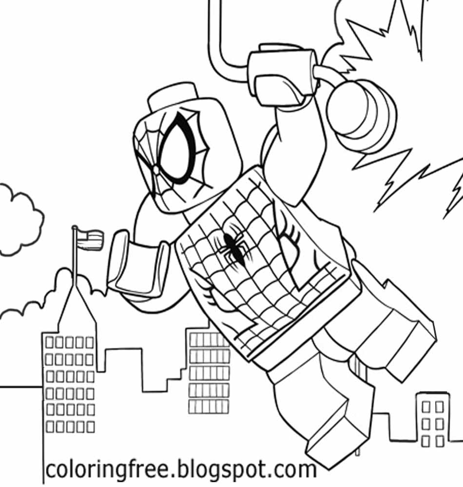 Lego Spiderman Coloring Pages Lego Spiderman Coloring Pages To Print At Getdrawings Free For
