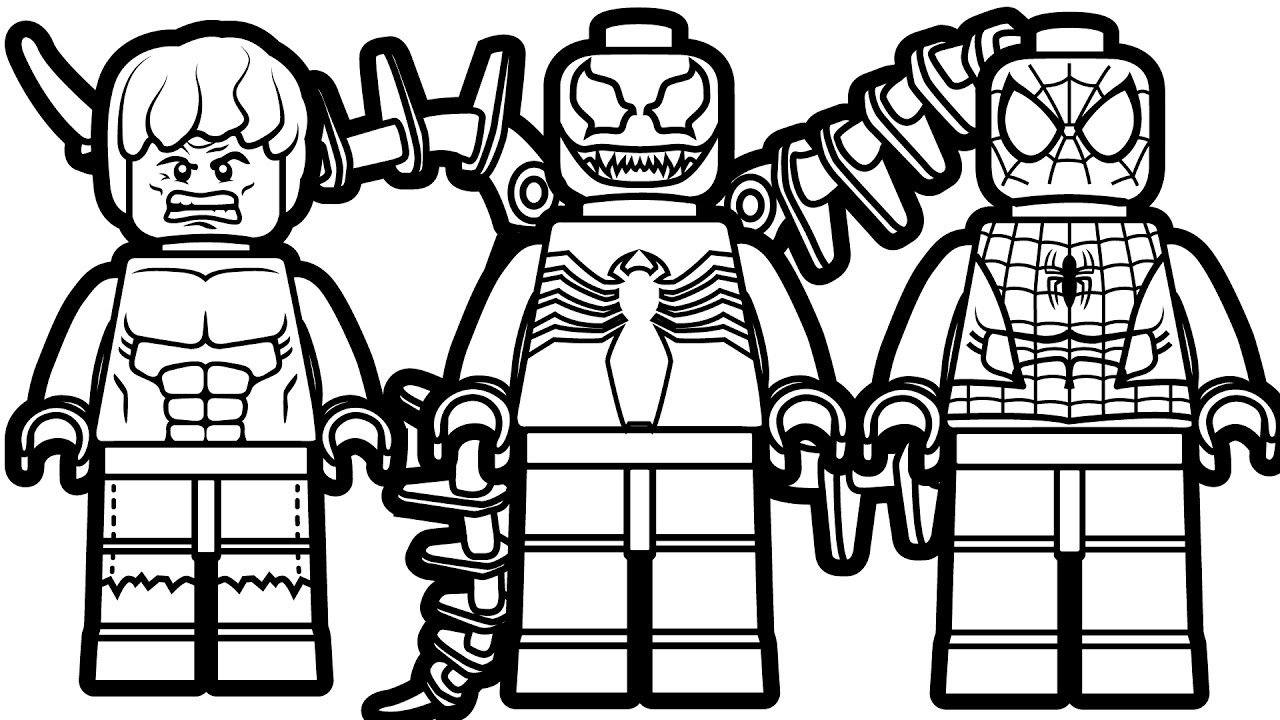 Lego Spiderman Coloring Pages Lego Spiderman Coloring Pages