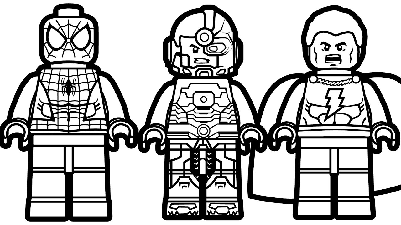 Lego Spiderman Coloring Pages Phenomenal Legoiderman Coloring Pages Batman And Ultimate Games