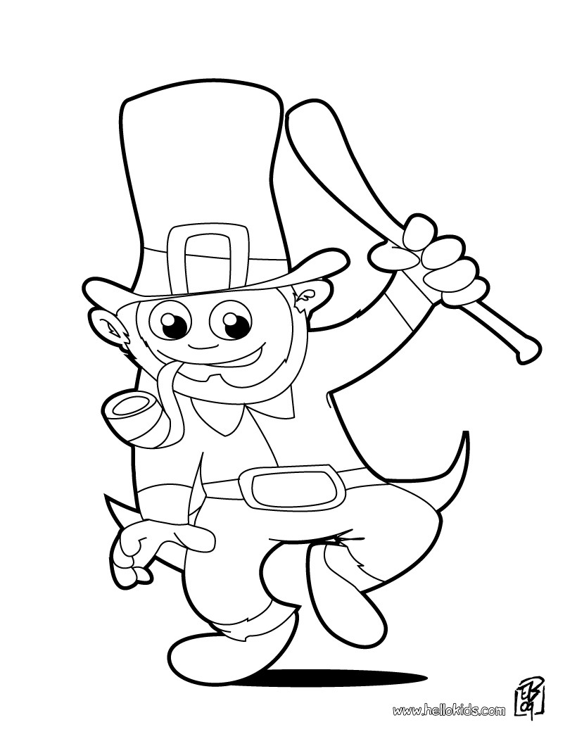 21+ Awesome Picture of Leprechaun Coloring Pages