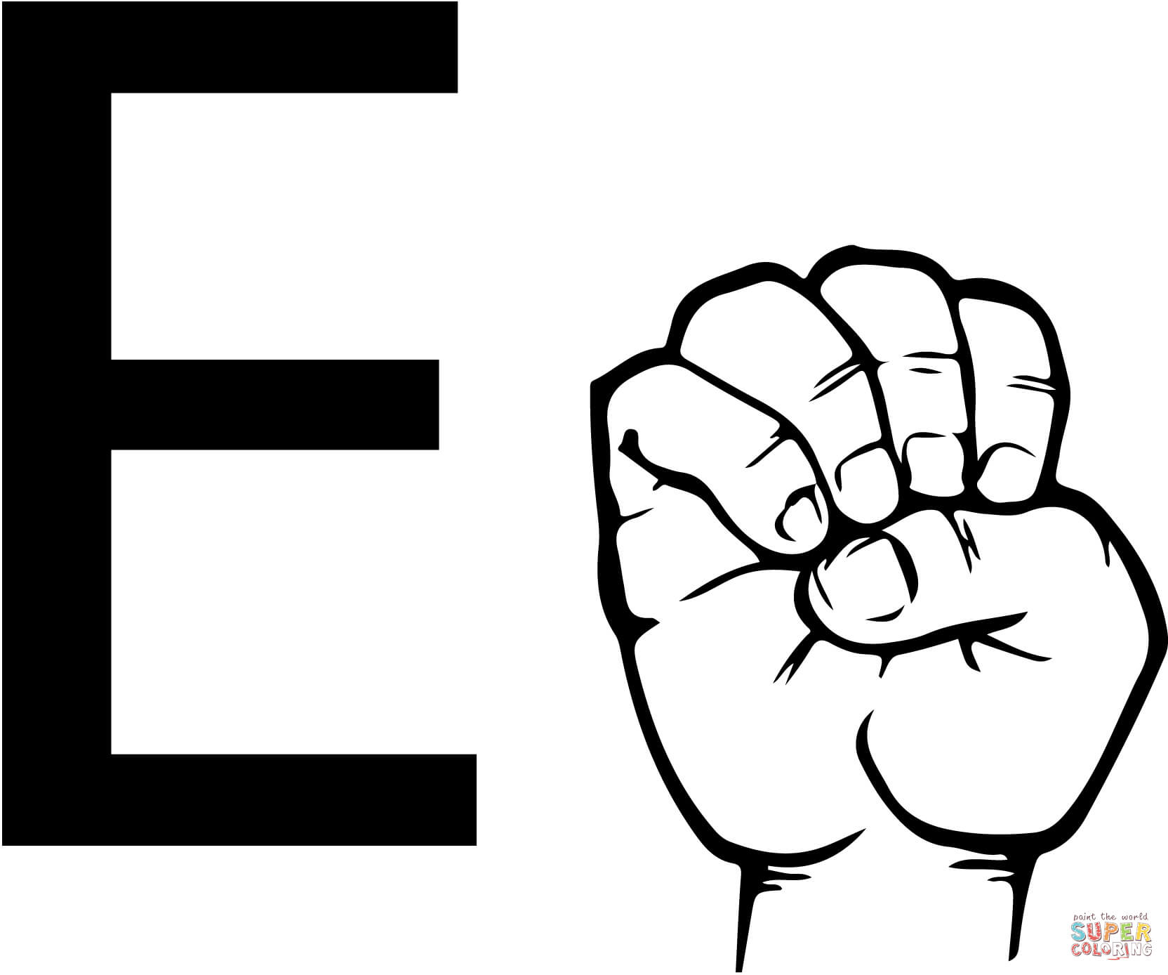 27+ Best Image of Letter E Coloring Page