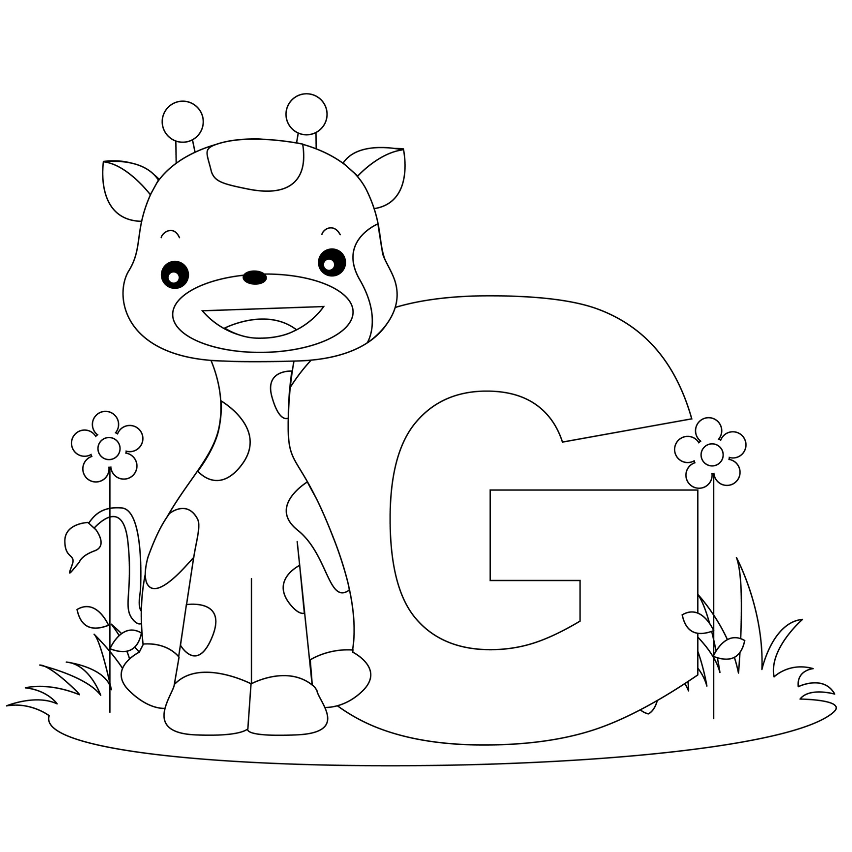 27+ Elegant Picture of Letter G Coloring Pages