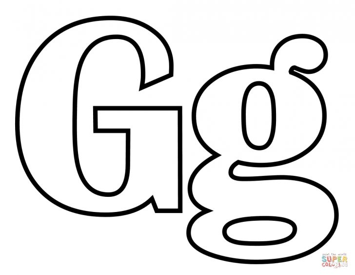 Letter G Coloring Pages Letter G Coloring Page Free Printable Coloring Pages Coloring Home