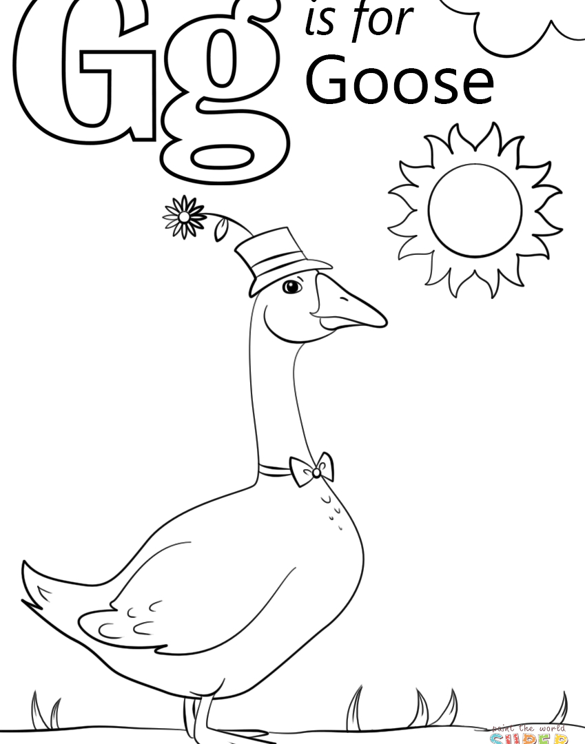 Letter G Coloring Pages Letter G Coloring Pages Preschool At Getdrawings Free For