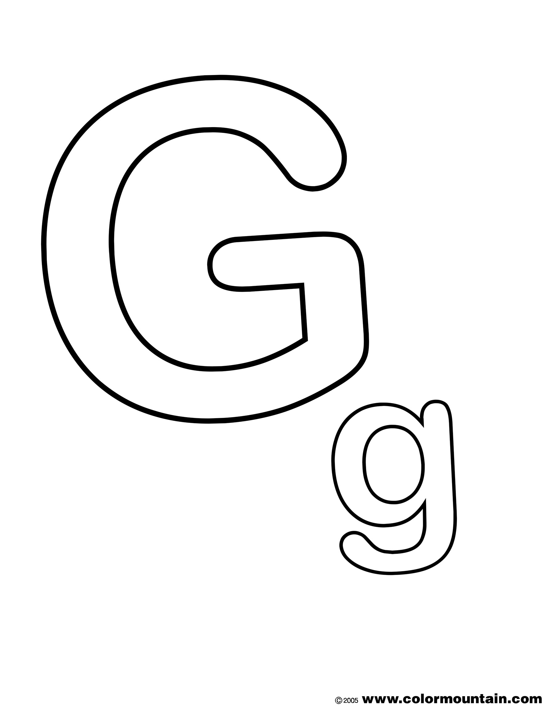 Letter G Coloring Pages The Letter G Coloring Page Create A Printout Or Activity In Pages