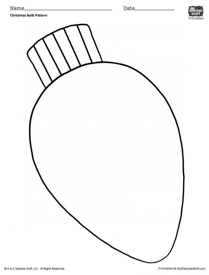 Light Bulb Coloring Page Christmas Bulb Coloring Pattern Or Coloring Sheet A To Z Teacher