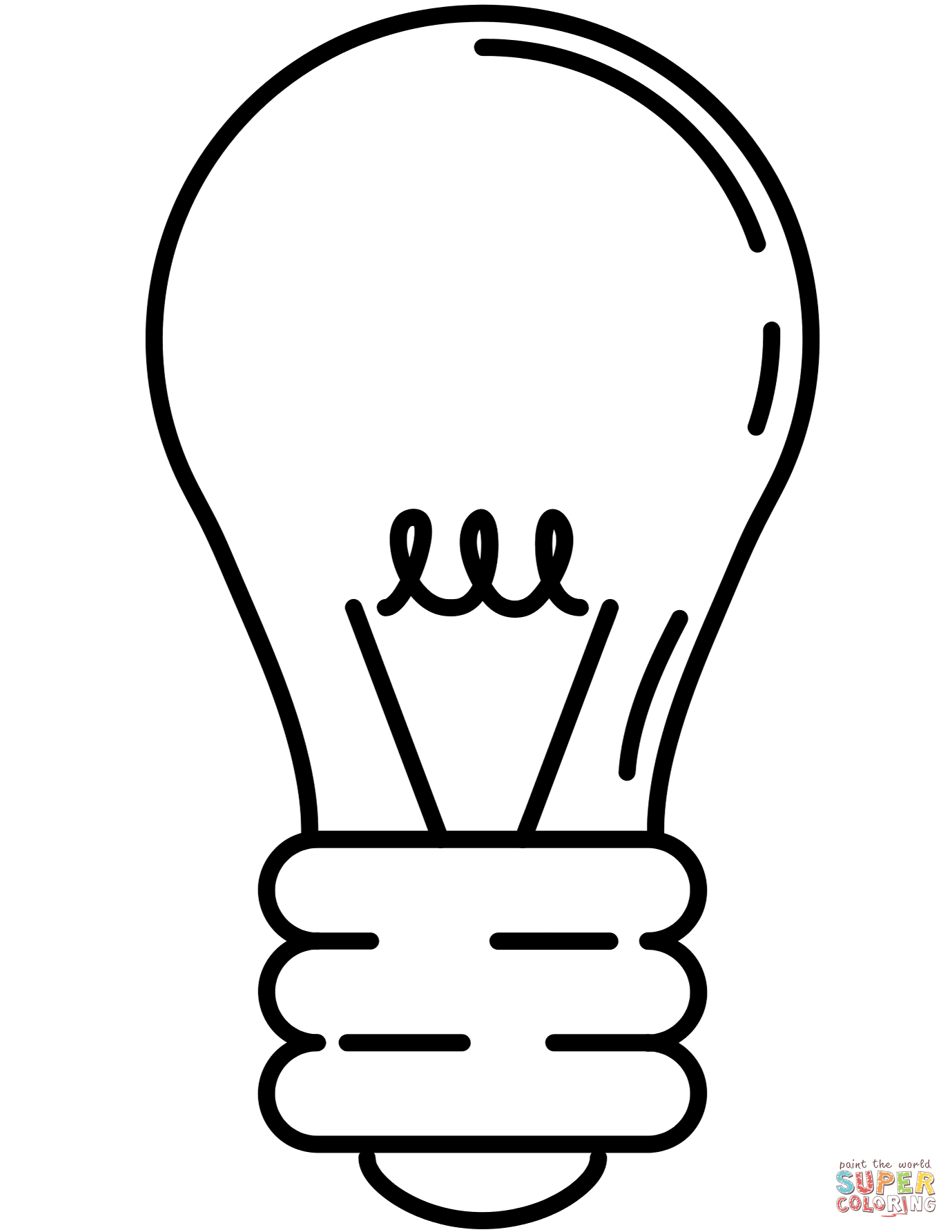 Excellent Image of Light Bulb Coloring Page