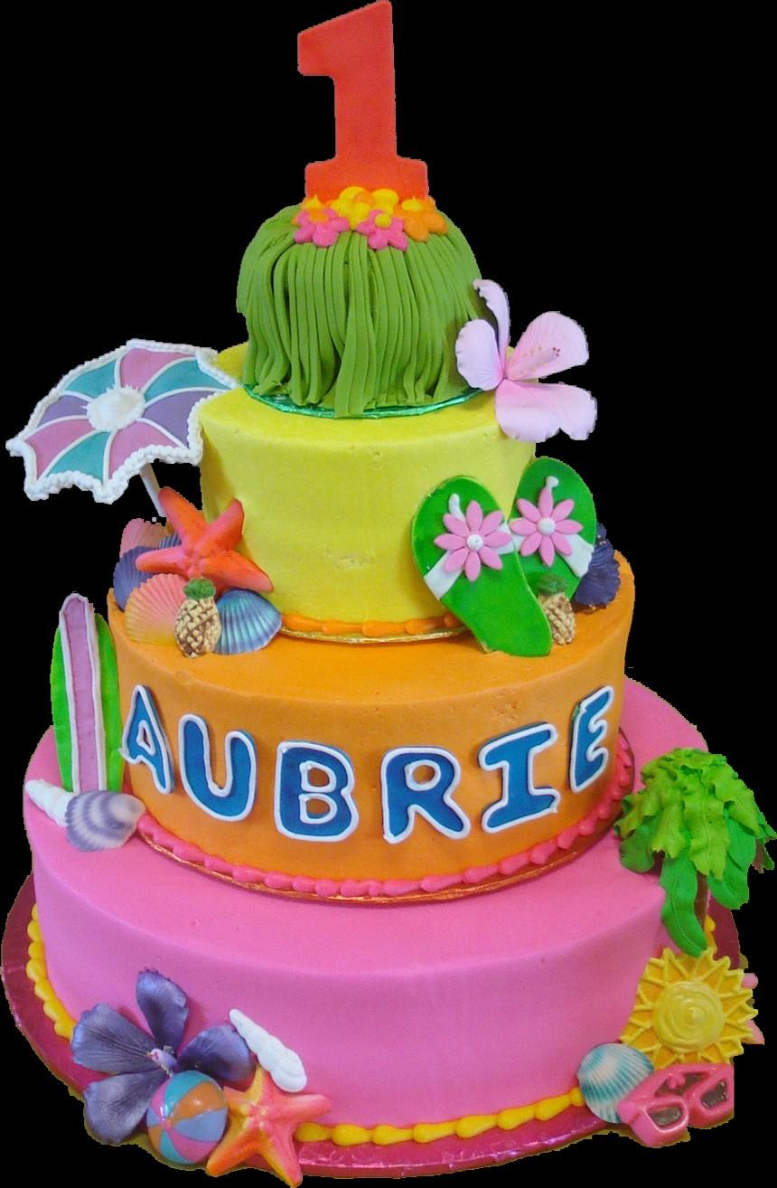 Luau Birthday Cakes Birthday Cakes Sugar Showcase