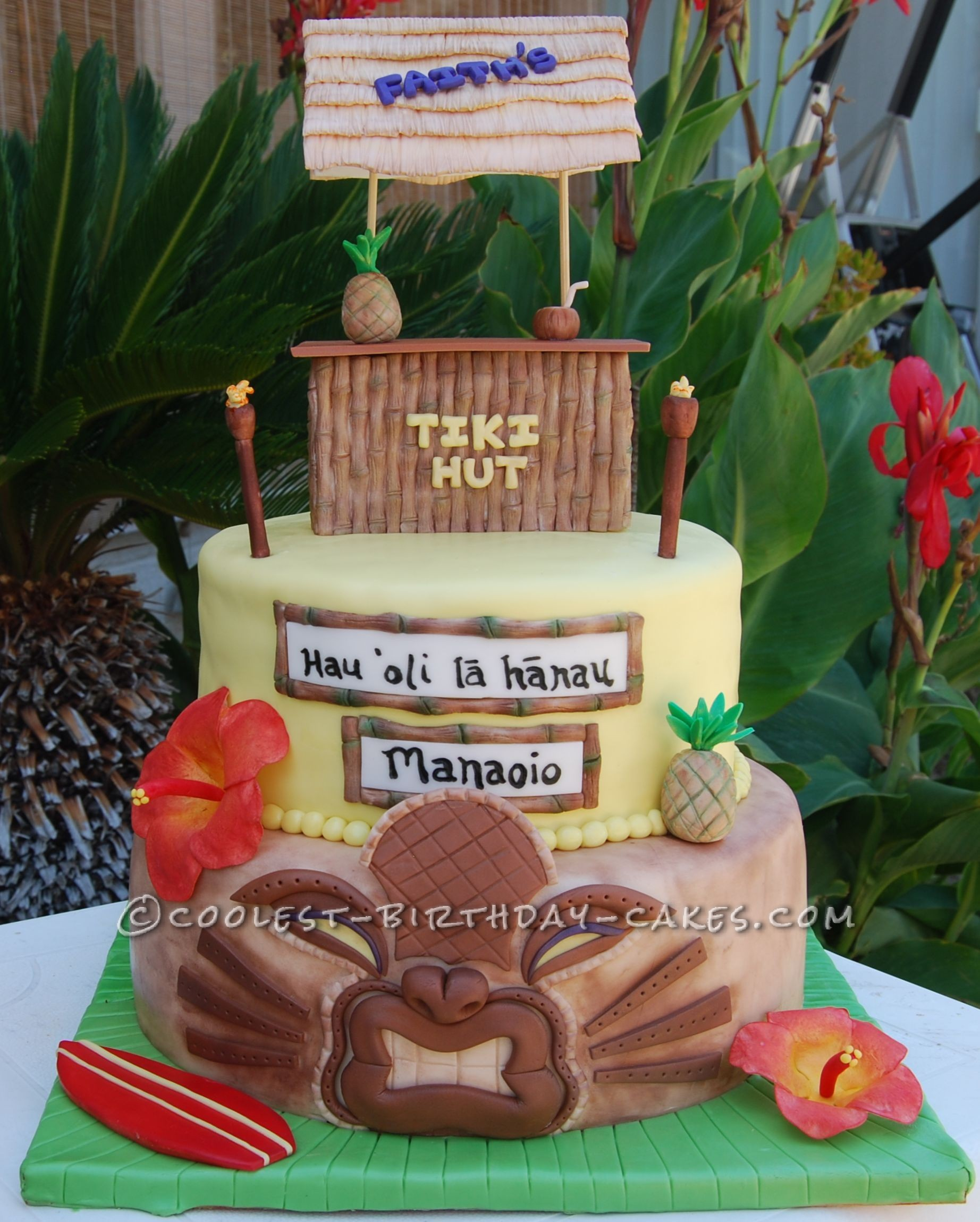 Luau Birthday Cakes Coolest Hawaiian Luau Birthday Cake