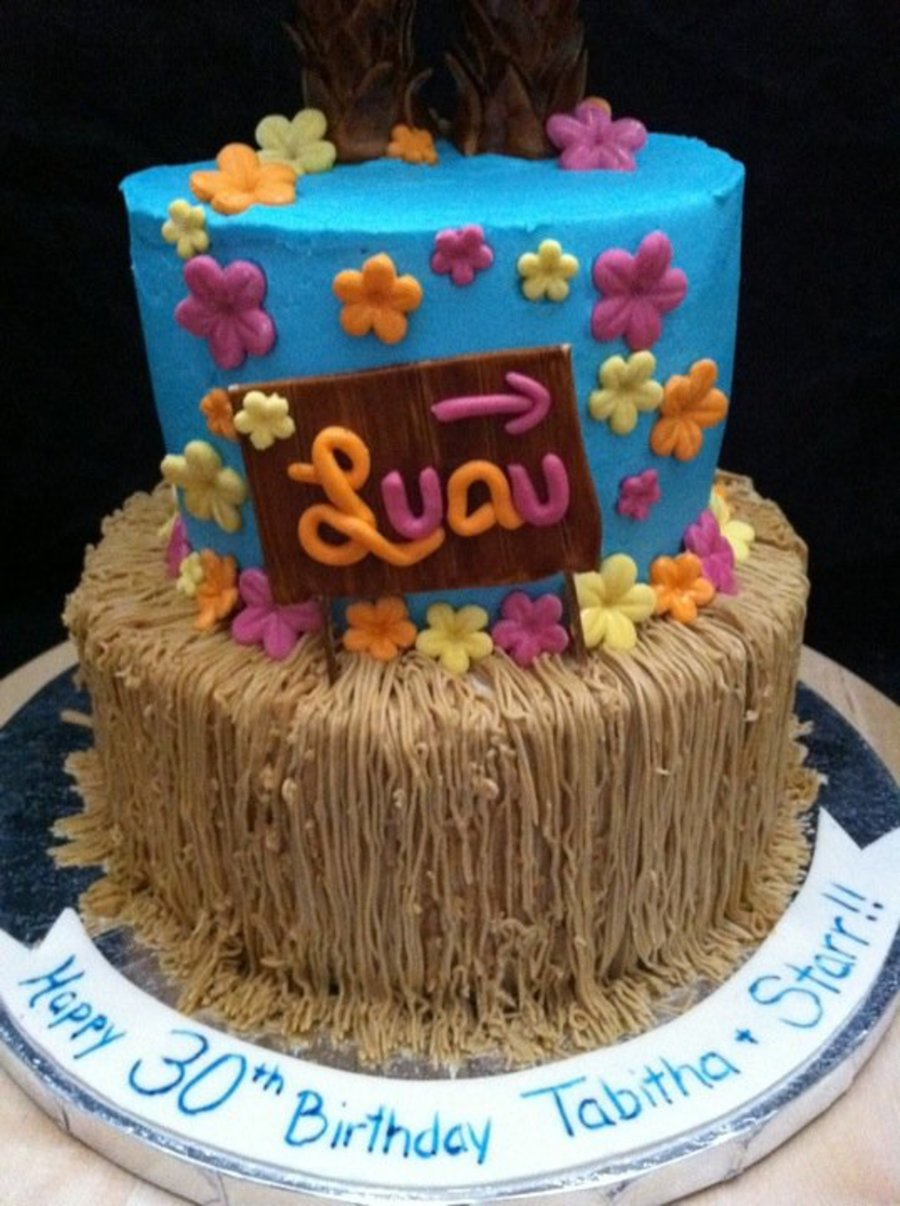 Luau Birthday Cakes Hawaiin Luau Birthday Cake For Twins Cakecentral