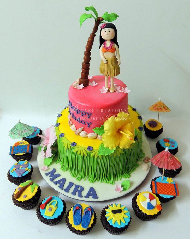 Luau Birthday Cakes Hula Luau Birthday Cake D Cake Creations