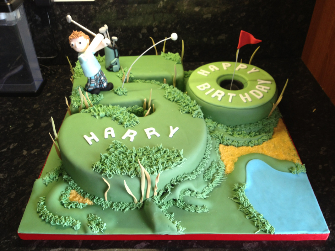 Masculine Birthday Cakes 10 Male Golf Photo Mens 50th Cake Ideas