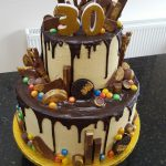 Mens Birthday Cake Two Tier Chocolate Drip 30th Birthday Cake Yuumm 30 Birthday