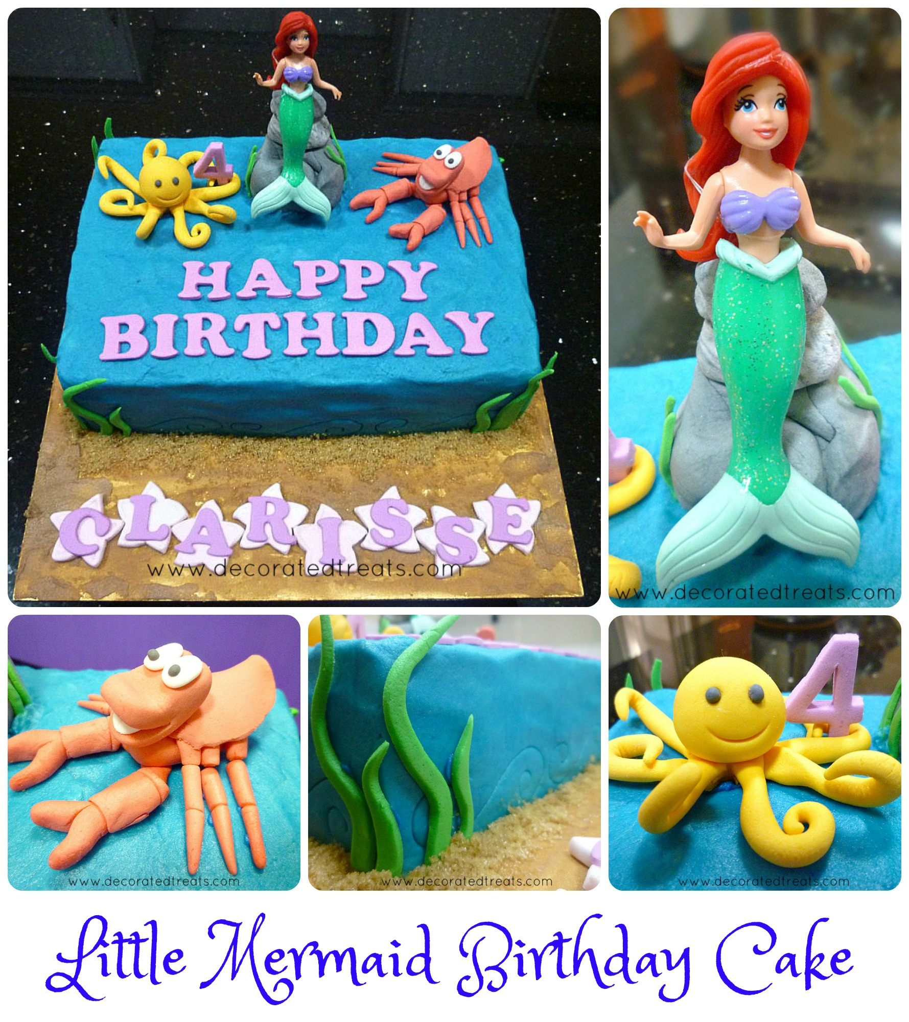 Mermaid Birthday Cake Ariel The Little Mermaid Birthday Cake Idea ...