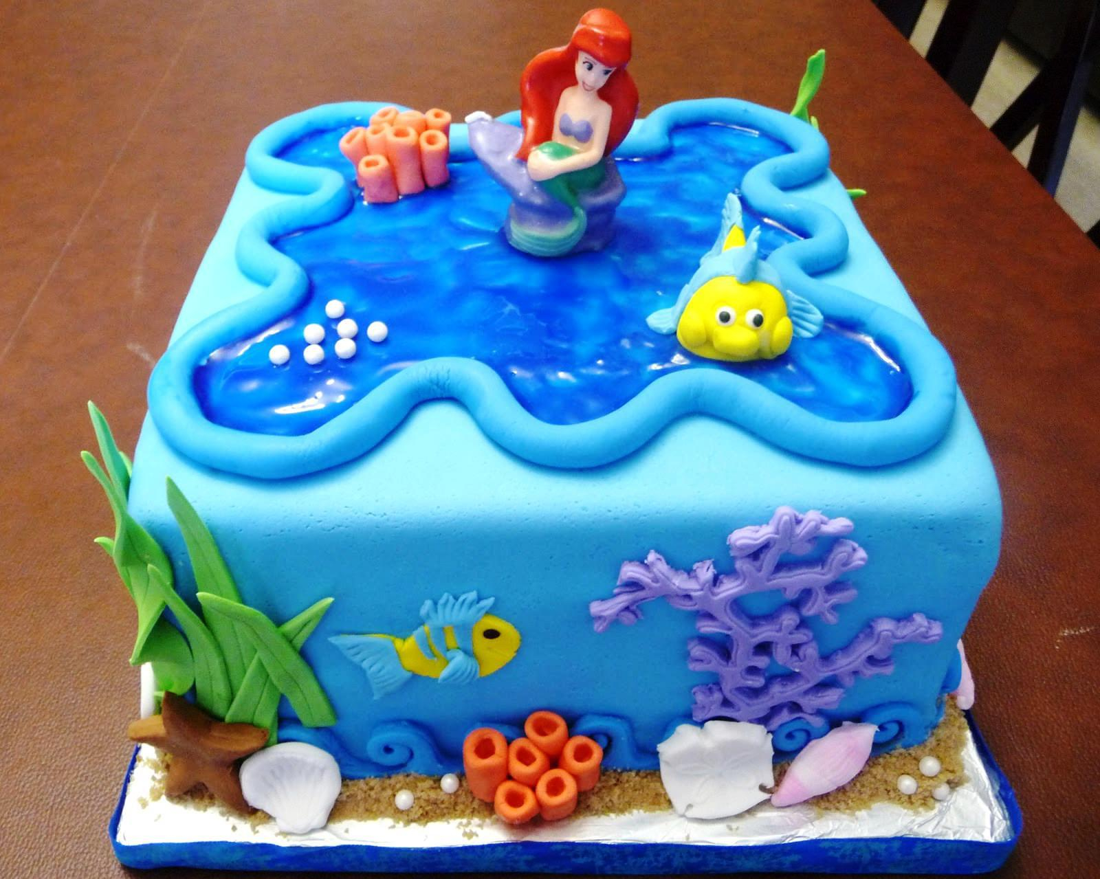 Mermaid Birthday Cake Little Mermaid Birthday Cake Protoblogr Design ...