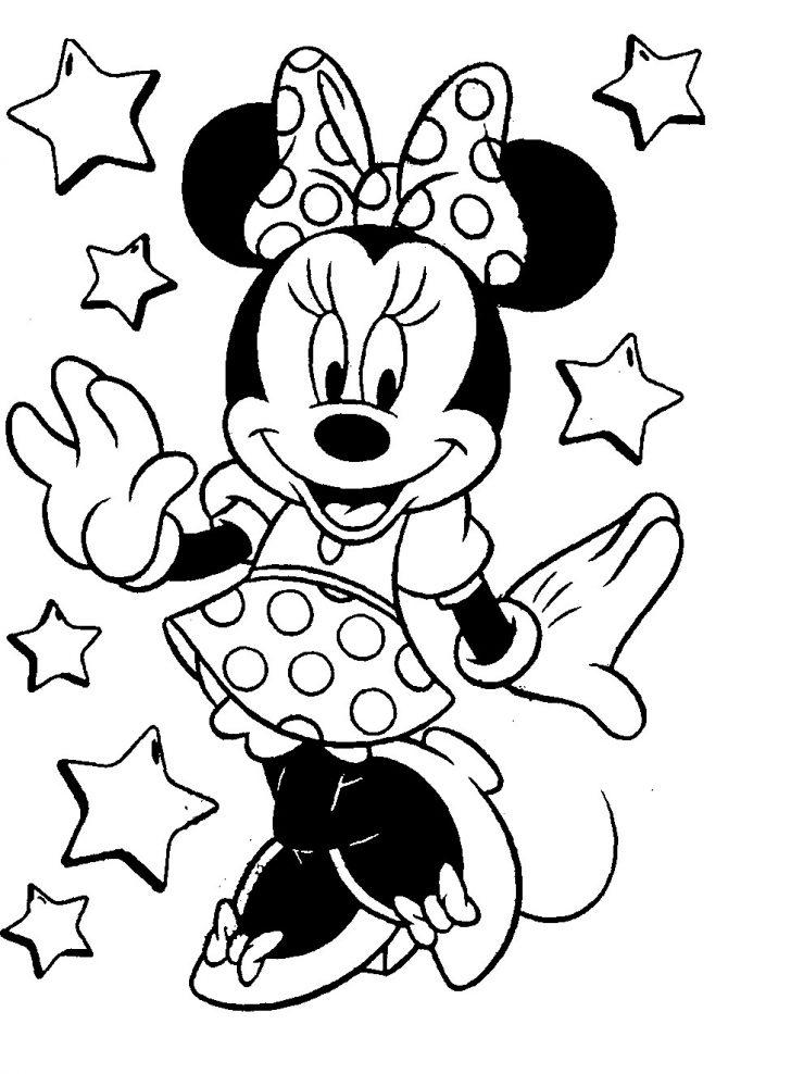 Mickey Coloring Pages Beautiful Minnie Mouse Coloring Page 31 In Free Colouring Pages With