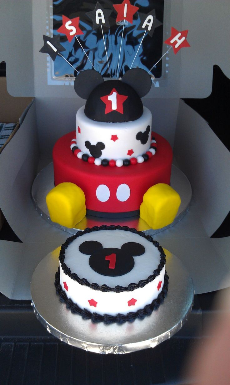 Mickey Mouse 1St Birthday Cake 11 Mickey Mouse First Birthday Cakes For Boys Photo Mickey Mouse