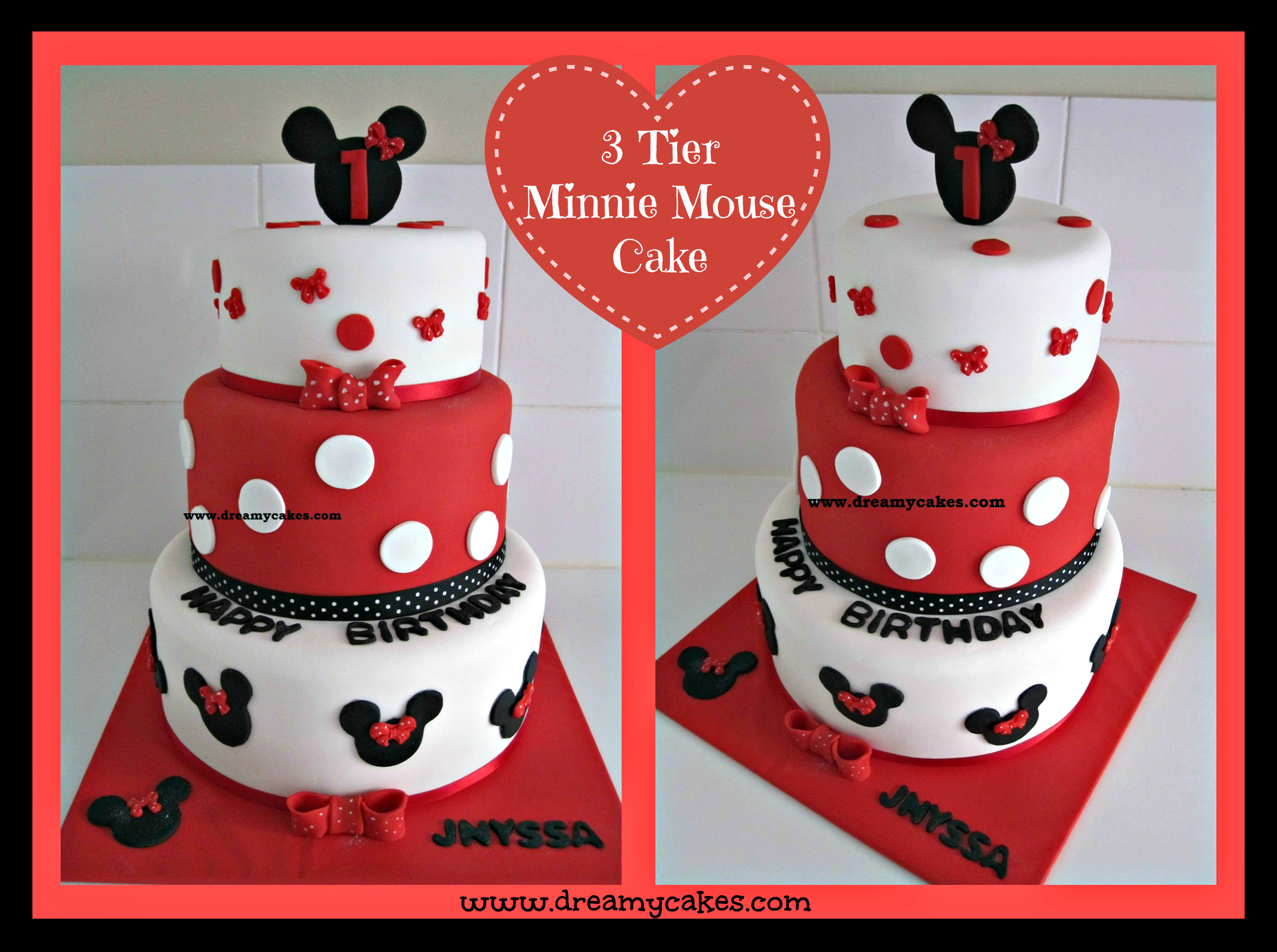 Mickey Mouse 1St Birthday Cake 1st Birthday Cake Minnie Mouse