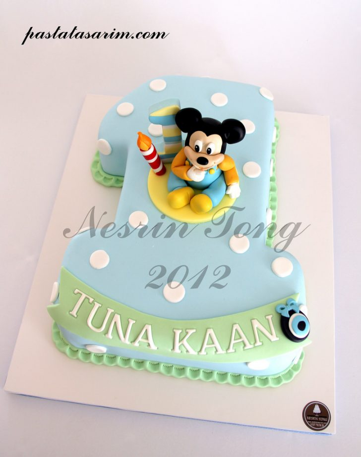 Mickey Mouse 1St Birthday Cake Ba Mickey Mouse 1st Birthday Cake Cake Nesrn Tong Flickr