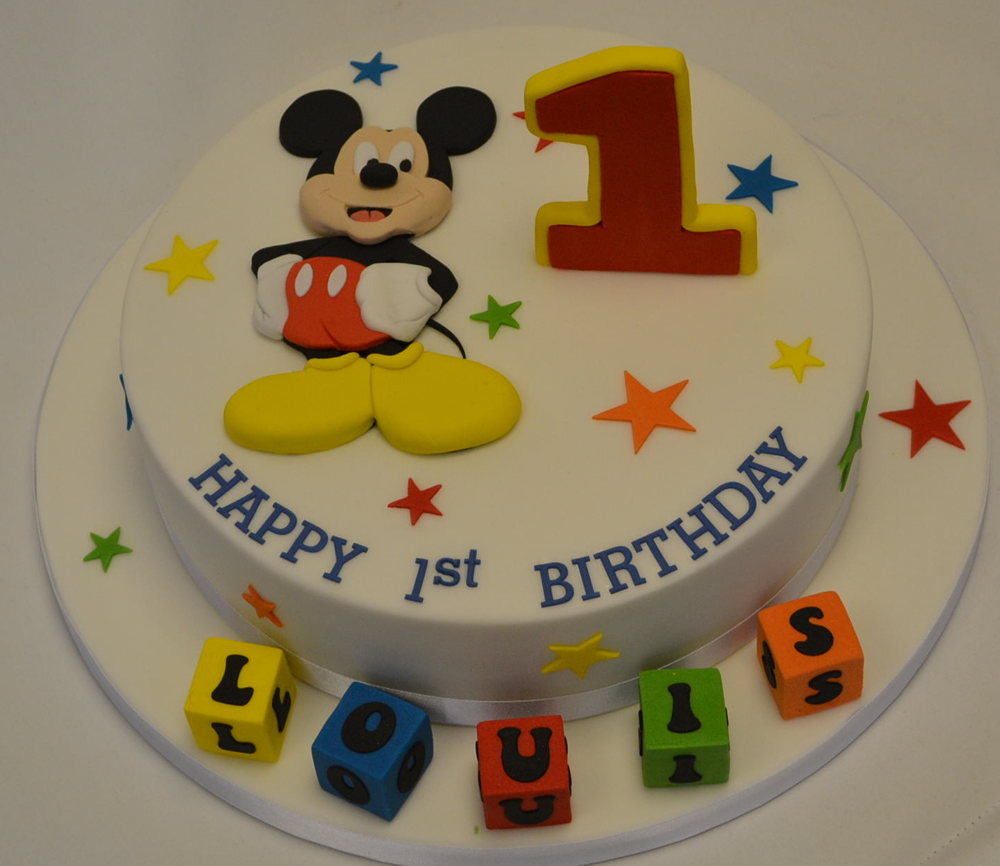 Mickey Mouse 1St Birthday Cake Mickey Mouse 1st Birthday Cake Celebration Cakes Cakeology