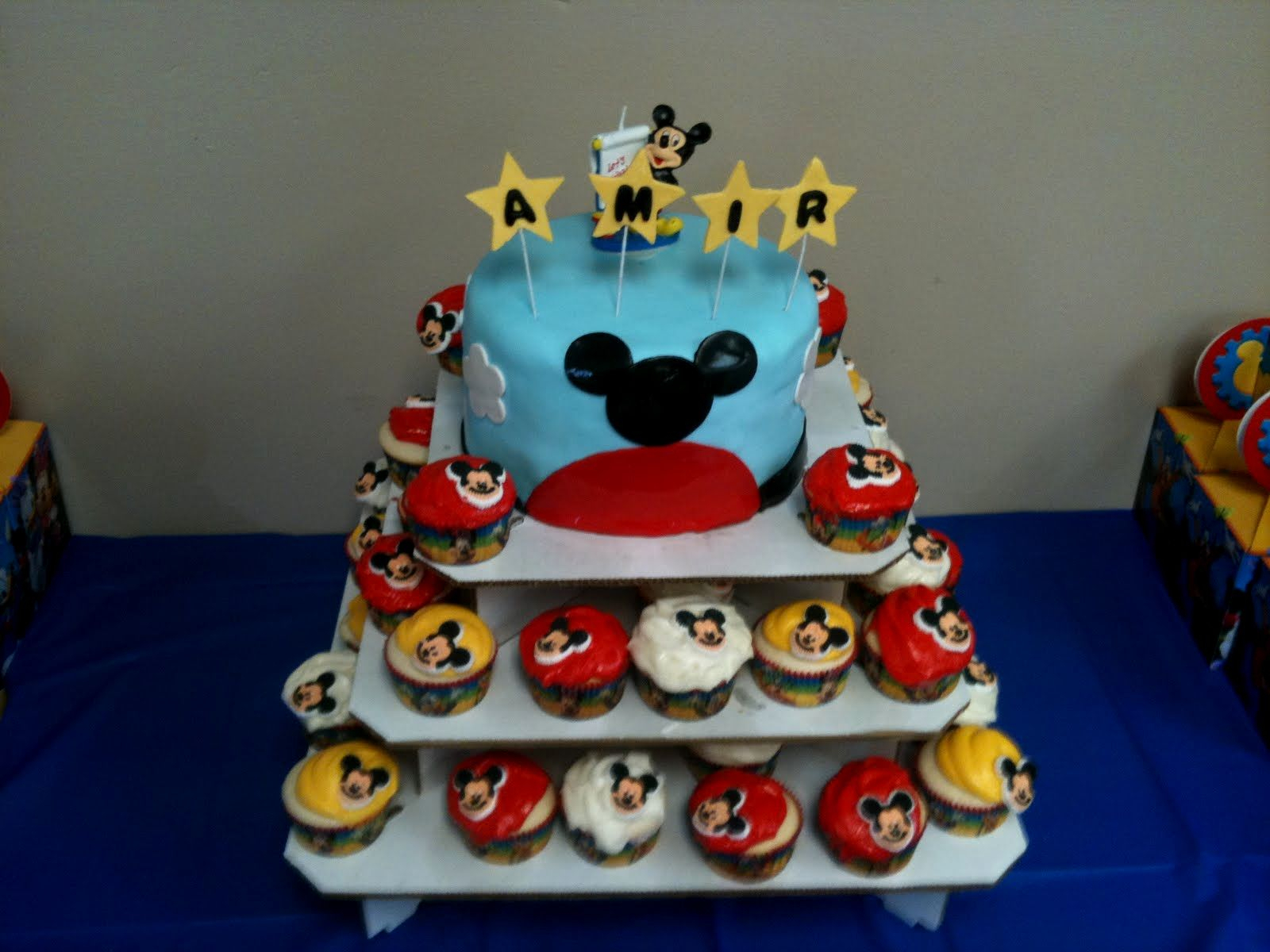 Mickey Mouse 1St Birthday Cake Mickey Mouse 1st Birthday Cake Topper Ba Mickey Mouse 1st Birthday