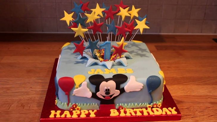 Mickey Mouse 1St Birthday Cake Mickey Mouse 1st Birthday Cake Youtube