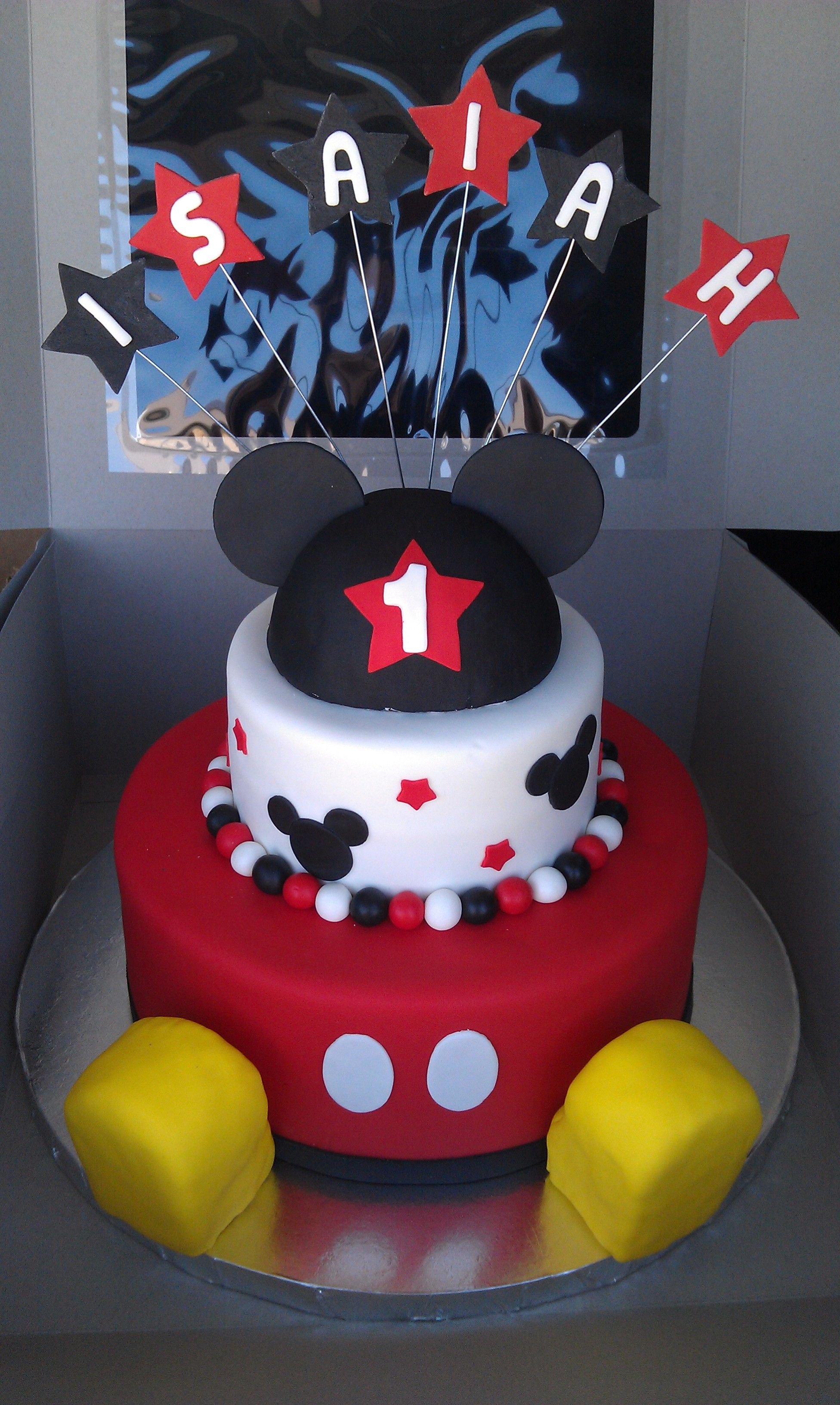 Mickey Mouse 1St Birthday Cake Mickey Mouse 1st Birthday Cakes With Shoes Mickey Mouse 1st
