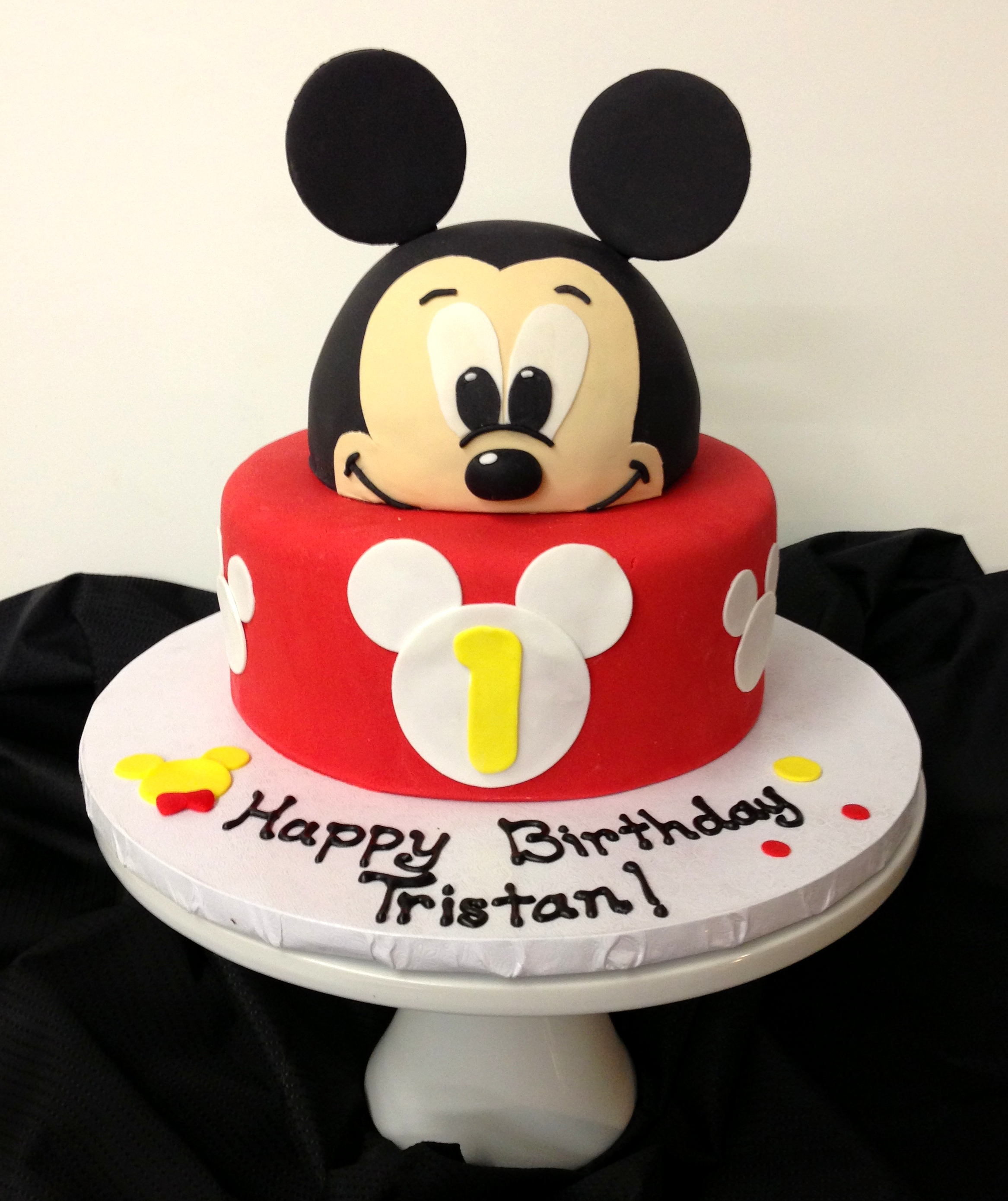 Mickey Mouse 1St Birthday Cake Mickey Mouse Cake Ba Beas Bakeshop