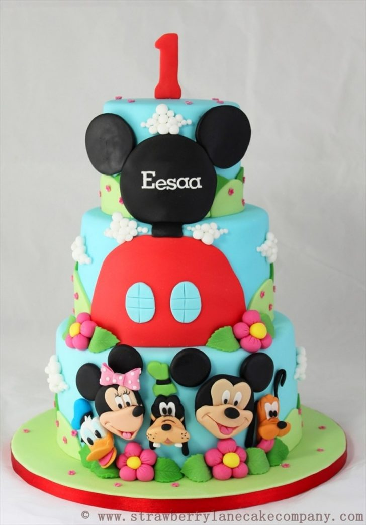 Mickey Mouse 1St Birthday Cake Mickey Mouse Club House And Friends 1st Birthday Cake Cakecentral