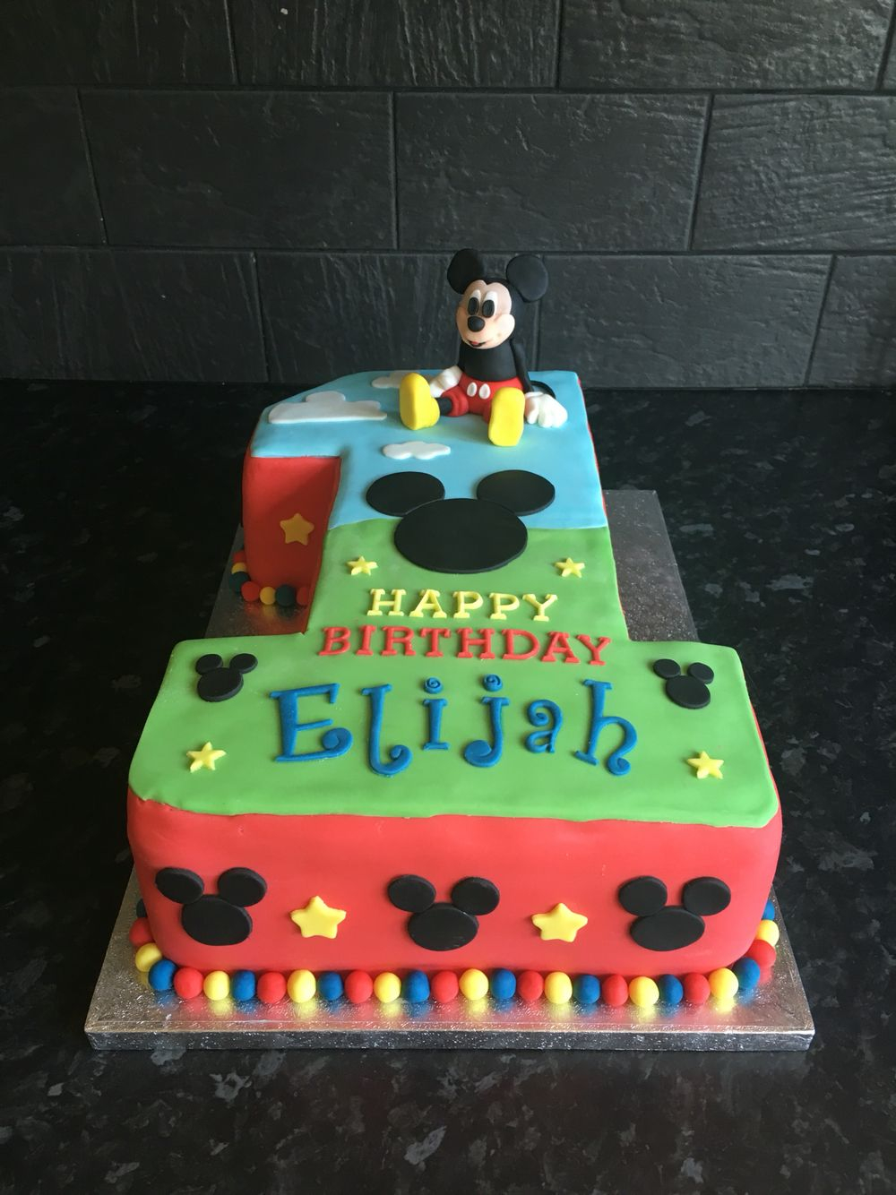 Mickey Mouse 1St Birthday Cake Mickey Mouse Number 1 Birthday Cake First Birthday Mickey Birthday