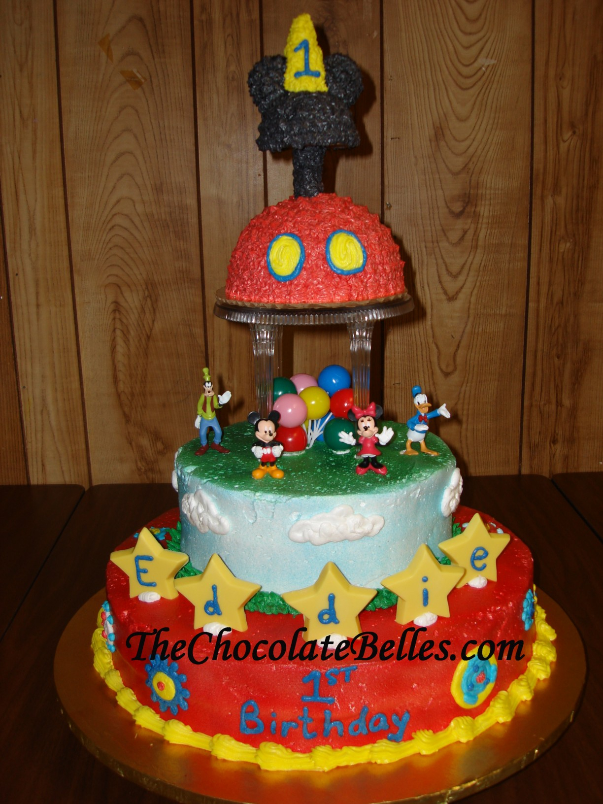 Mickey Mouse 1St Birthday Cake Mickey Mouse Tier 1st Birthday Cake