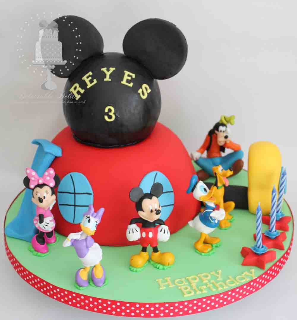 Mickey Mouse Clubhouse Birthday Cake Delectable Delites Mickey Mouse Clubhouse Cake For Reyess 3rd Birthday