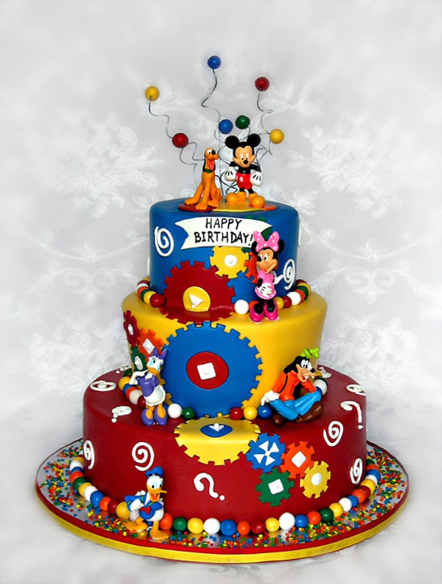 Mickey Mouse Clubhouse Birthday Cake Mickey Mouse Clubhouse Theme Birthday Cake Cakecentral