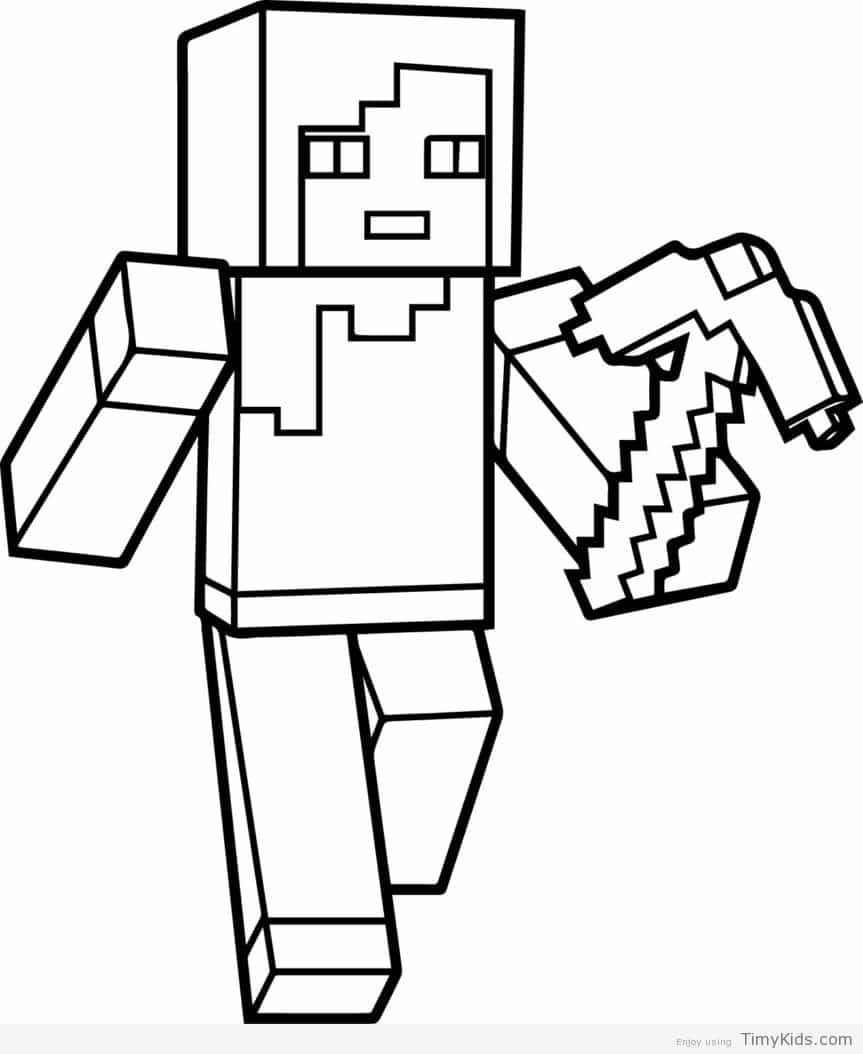 Mine Craft Coloring Pages Mine Craft Coloring Pages Minecraft Coloring Pages Timykids
