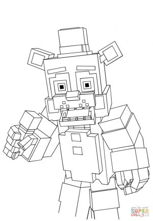 Mine Craft Coloring Pages Minecraft Freddy Coloring Page Free Printable Coloring Pages