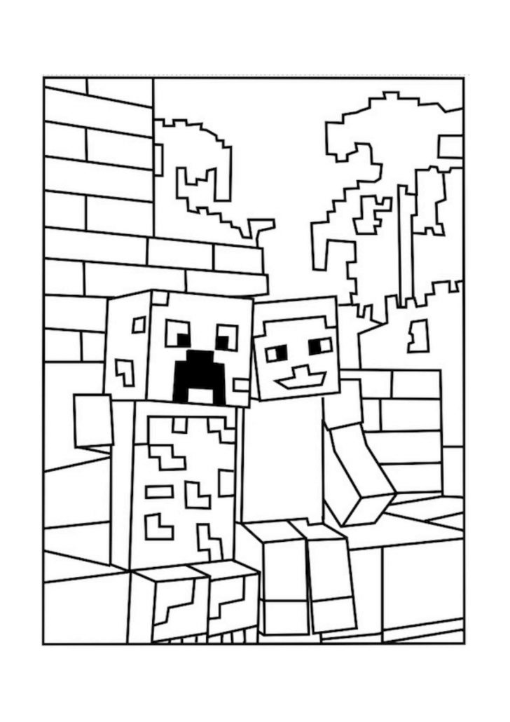 Mine Craft Coloring Pages Minecraft Sword Coloring Pages