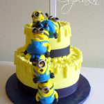 Minion Birthday Cake Birthday Cakes Despicable Me Cake With Stacked Mmf Minions