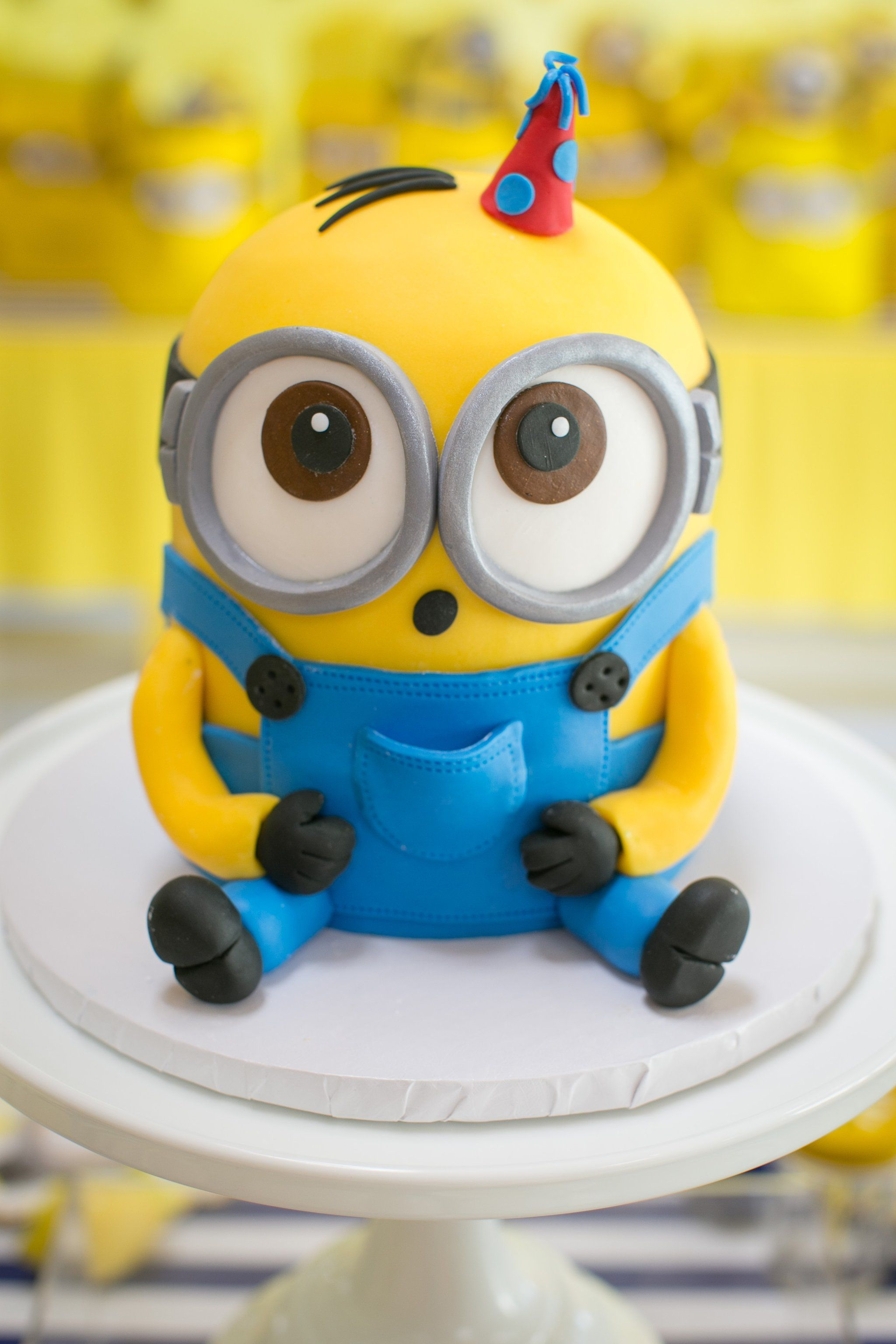 Minion Birthday Cake This One In A Minion Birthday Party Will Have Your Kiddo Going