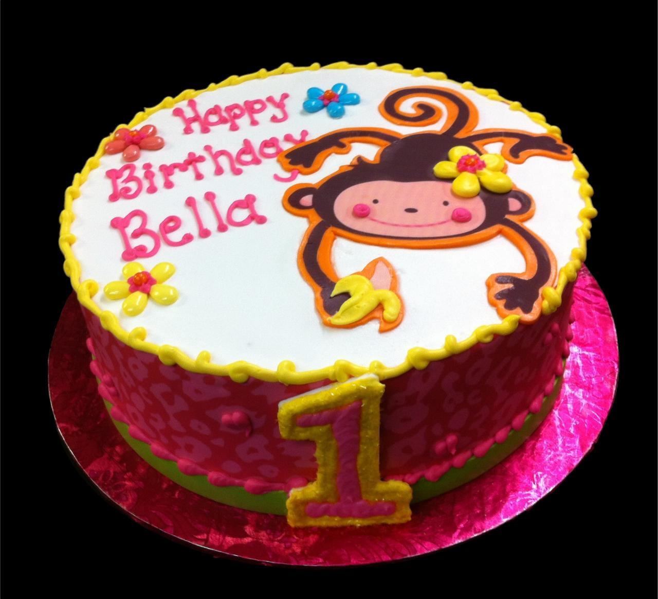 Monkey Birthday Cake Birthday Cakes Sugar Showcase