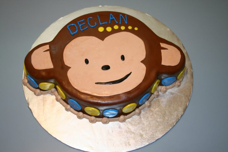 Monkey Birthday Cake Kakies Cakes Monkey Birthday Cake
