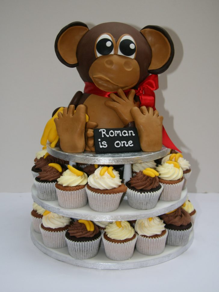 Monkey Birthday Cake Monkey Birthday Cake And Cupcakes Etoile Bakery