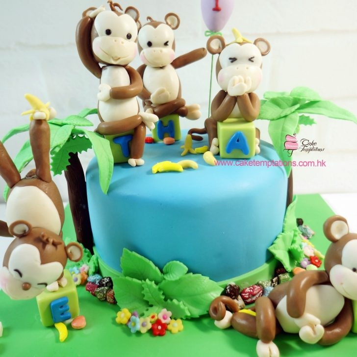 Monkey Birthday Cake Monkey Birthday Cake Animals