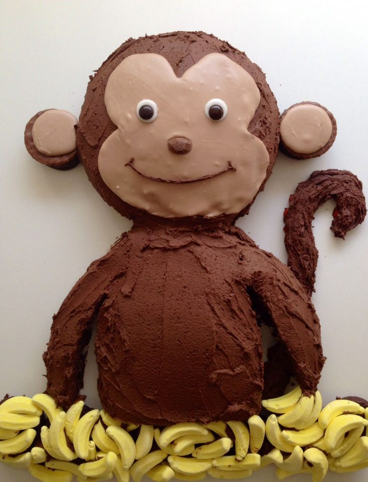 Monkey Birthday Cake Monkey Birthday Cake Food Birthday Cake Monkey Birthday Cakes