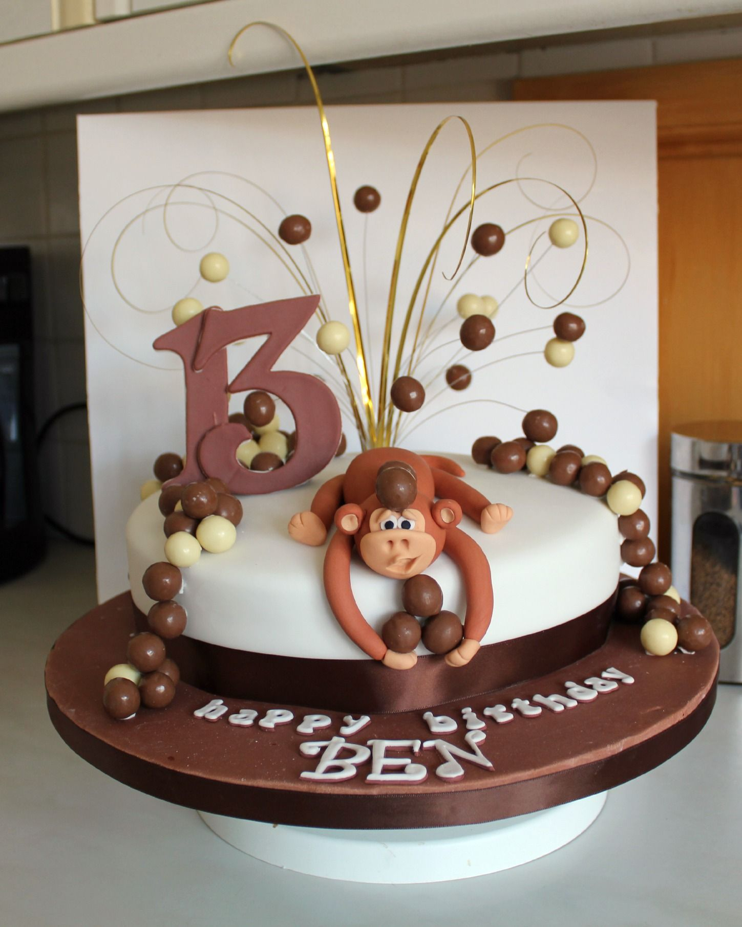 Monkey Birthday Cake Monkey Birthday Cake With Maltesers Decorating Community Kids