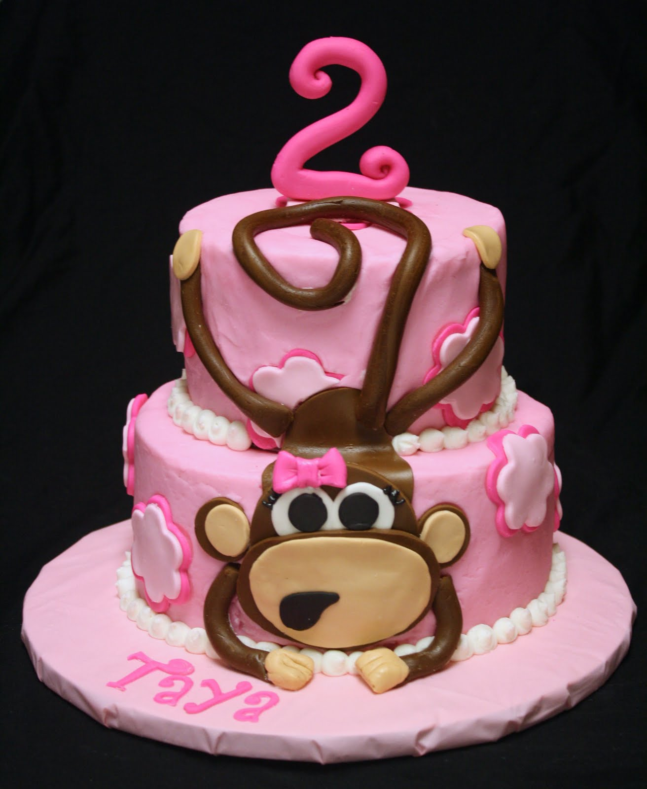 Monkey Birthday Cake Monkey Birthday Cakes