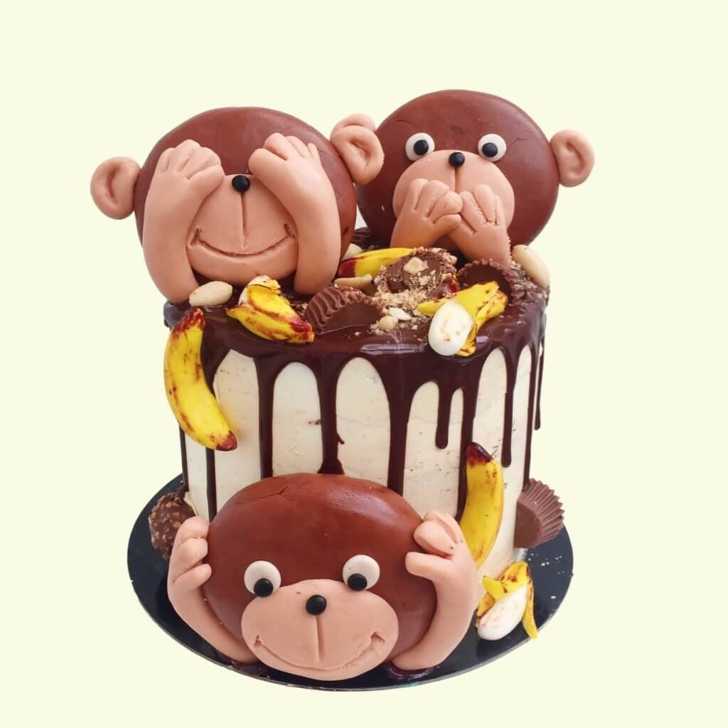 Monkey Birthday Cake Monkey Business Cake Isaac Pinterest Cake Birthday Cake And