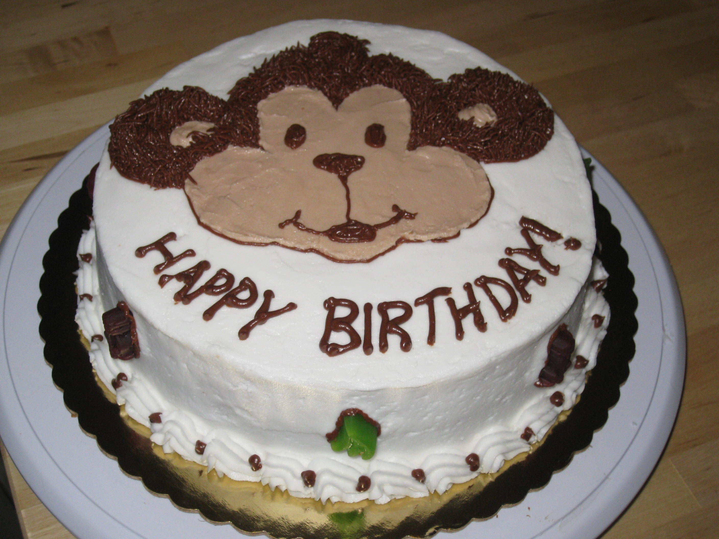 Monkey Birthday Cake Monkey Cake For My Favorite Little Monkeys Birthday The Smiley