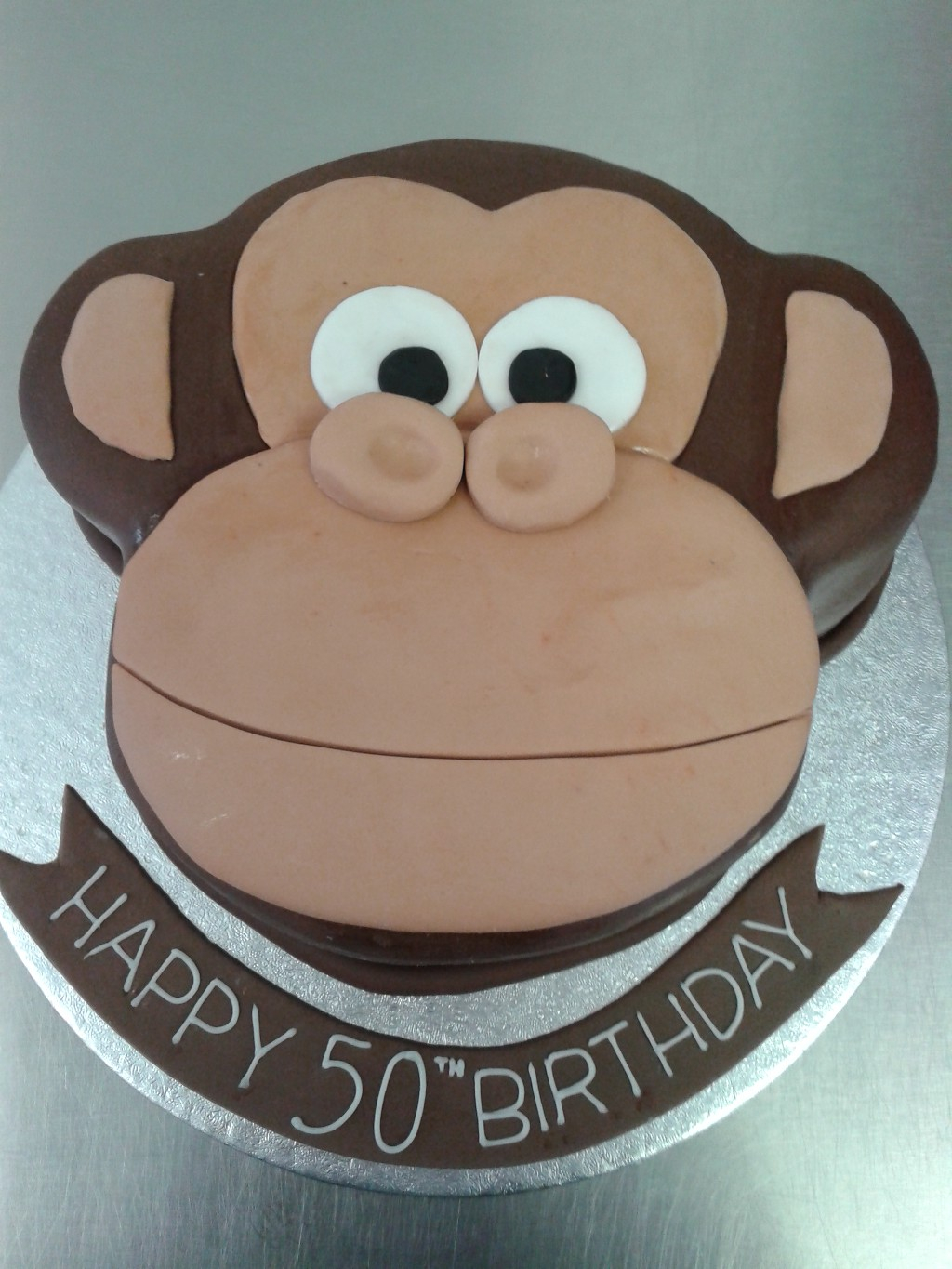 Monkey Birthday Cake Monkey Face 50th Birthday Cake Crumbs Cake Shop Sheffield